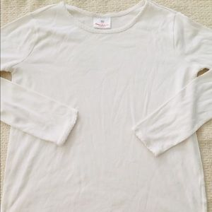 New Hanna Andersson White PJ Top Sz 12